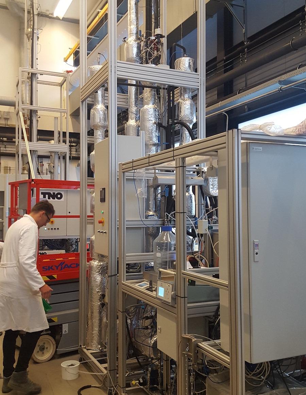 TNO's mobile capture pilot plant in Delft